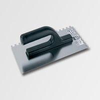 ruční nářadí hladítka, škrabáky hladítko 280x130  zub 8 nerez plast. ručka