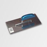 ruční nářadí hladítka, škrabáky hladítko 280x130 zub 4 nerez AL ručka