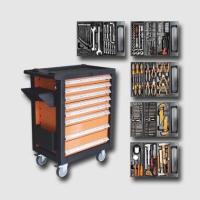 boxy, kufry, brašny vozík montážní kov-plast8 zásuvek vč.nářadí 400 dí